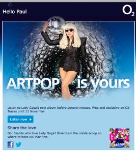 Gaga does O2